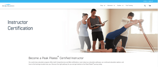 Peak Pilates Teacher Training Program