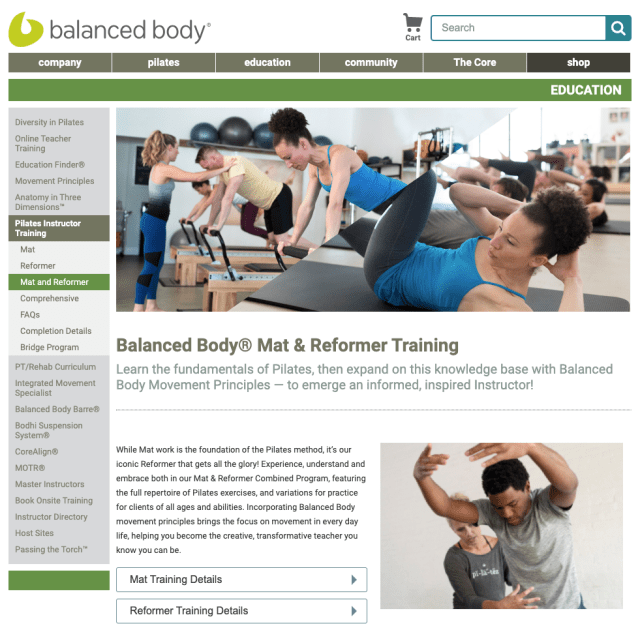 Balanced Body Mat & Reformer Training