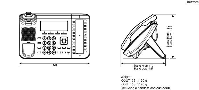 Panasonic KX-UT133 and KX-UT136 IP Telephones