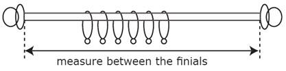 curtain pole width