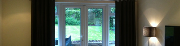 50mm Chrome Pole Fitted for Eyelet Curtain in Chalfont St Peter