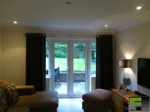 50mm diameter chrome curtain poles fitted in Chalfont St Peter