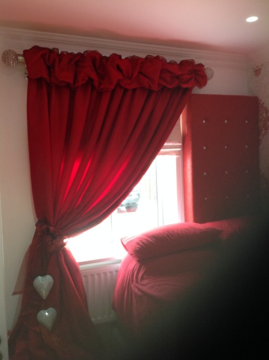 Ruched Curtain Heading and Pole Fitted in London