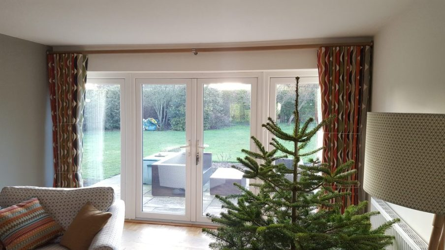 Curtain and pole fitted in Oxfordshire