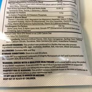 Proposition 65 in California disclosure on Beast Sport's Re-Animate supplement.