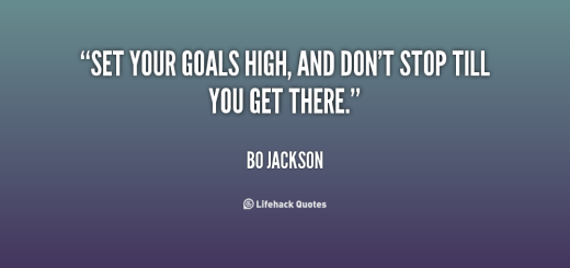 Goals quote, by Bo Jackson. Image Credit: LifeHacker.com