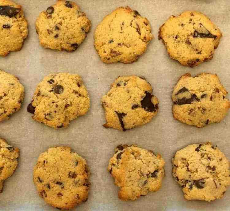 Ultimate keto chocolate chip cookies