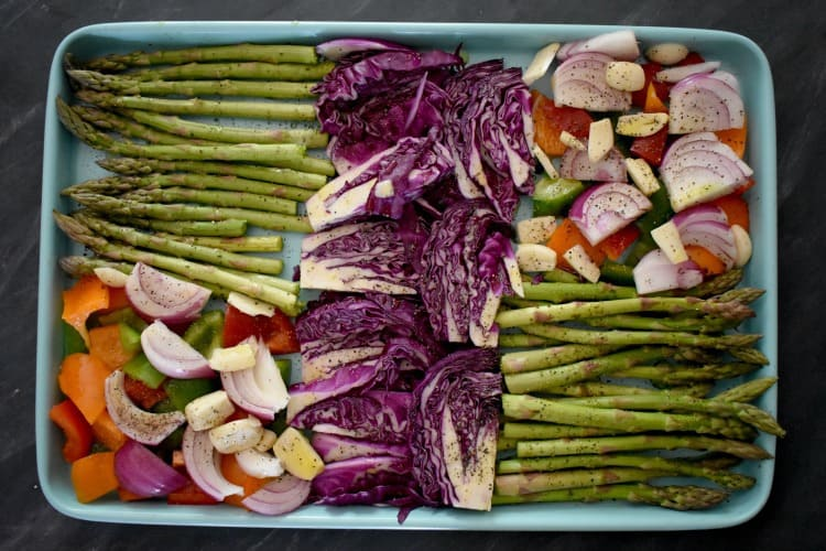 Keto vegetables ready to roast