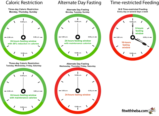 intermittent fasting schedule example intermittent fasting vs caloric restriction time-restricted feeding