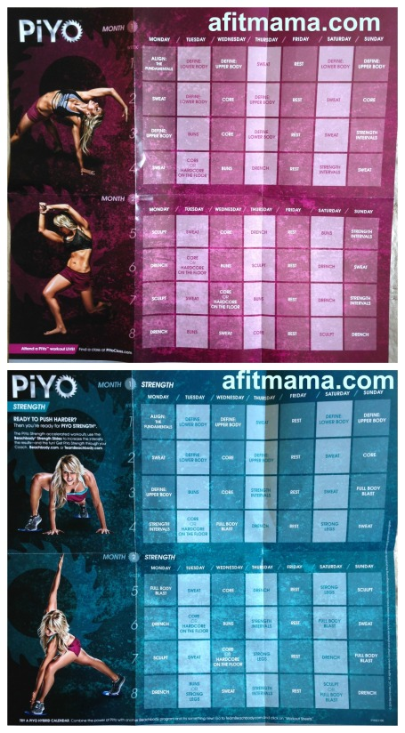 PiYo Workout Schedule and Calendar | Fit with Rachel
