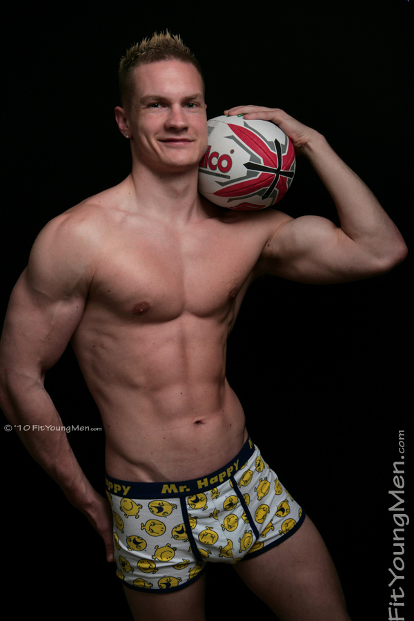 Fit Young Men Model Oli Hartley Rugby Player Rugby