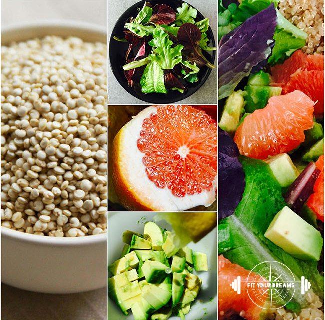 Salade detox Quinoa Pamplemousse