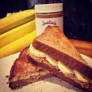 Gluten Free Almond Butter and Banana Sandwiches - FITZABOUT