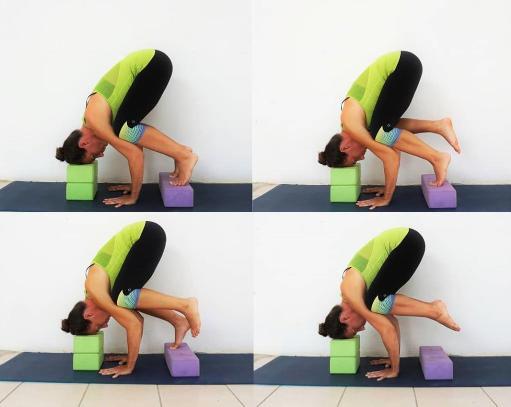 Gain Crow pose or Kakasana using two sets of blocks for beginners -fitzabout