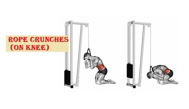 Rope crunches upper ab workouts - fitzabout