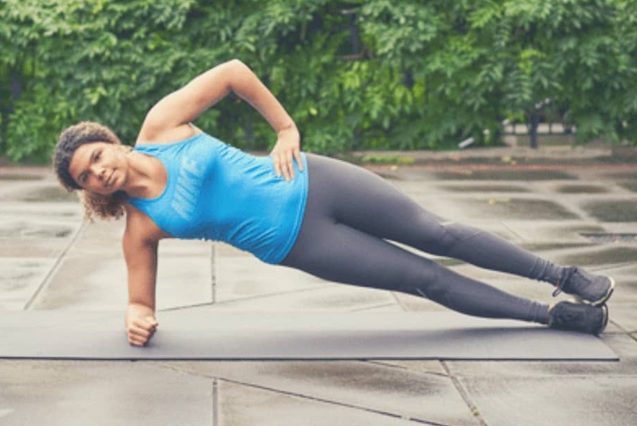 Side planks workout for obesity - Fitzabout
