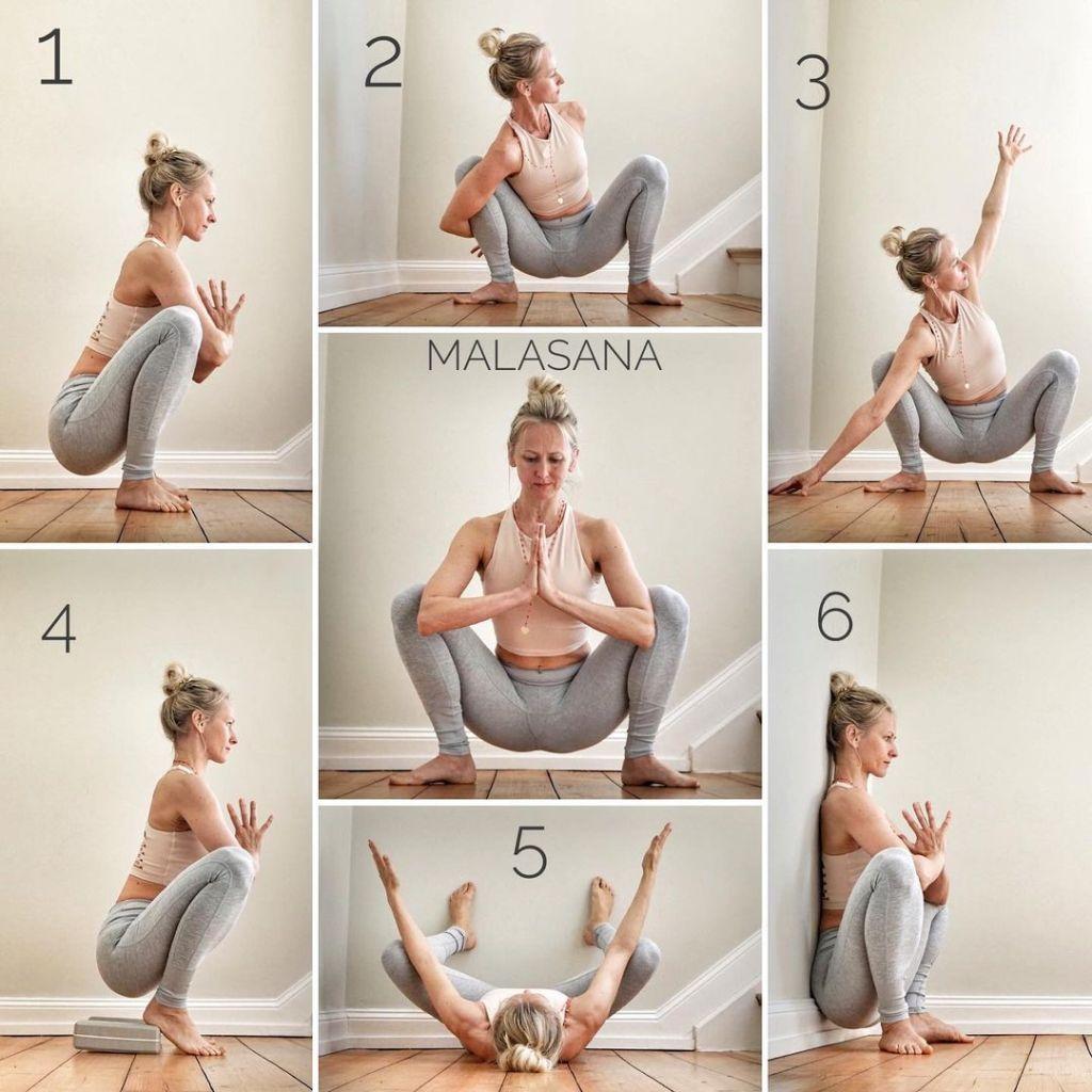 Malasana, Garland Pose, Yogi Squat Pose, Sitting Down Pose, Wide Squat Pose, Upavesasana, Squat Pose - Fitzabout