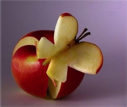 thanksgiving food fruit veggies decoration platters healthy ideas apple butterfly