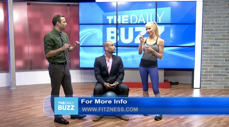 Fitz with Charles Divins and Lance Smith on The Daily Buzz