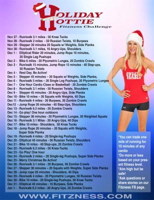 holiday hottie fitzness calendar buzz small