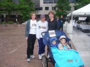 Carey, her sister Joellen to her left and the boys. What a trooper!