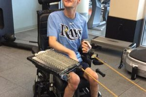 A Day at the Gym for a Wheelchair  User