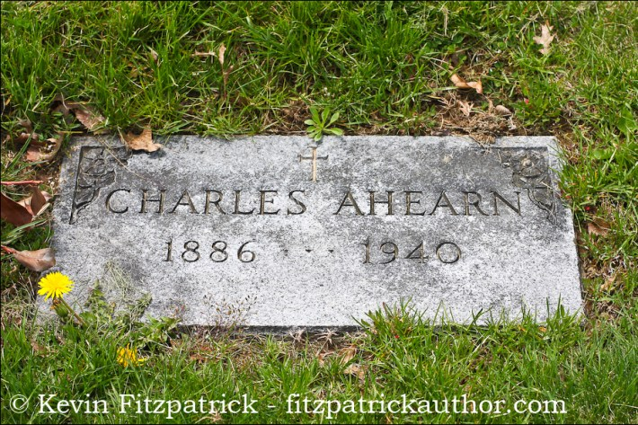 Charles Ahearn in the N.V.A. Burial Grounds.