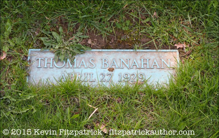 Tommy Banahan in the N.V.A. Burial Ground