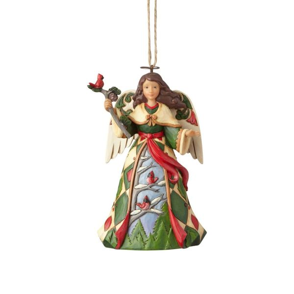 Jim Shore Christmas Angel with Cardinals
