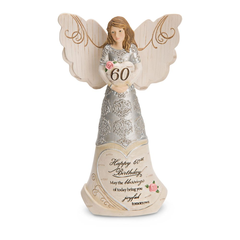 Pavilion Gift Elements 60th Birthday Angel Holding Heart