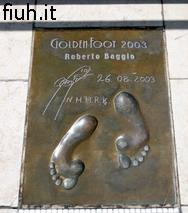 Le impronte di Roberto Baggio a Montecarlo