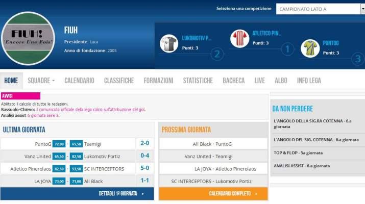 Risultati 1a giornata Campionato Lato A 2015-16