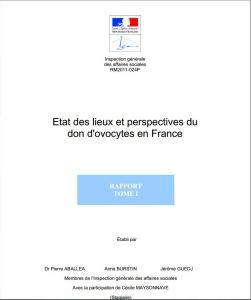 Rapport IGAS Mars 2011 don ovocyte