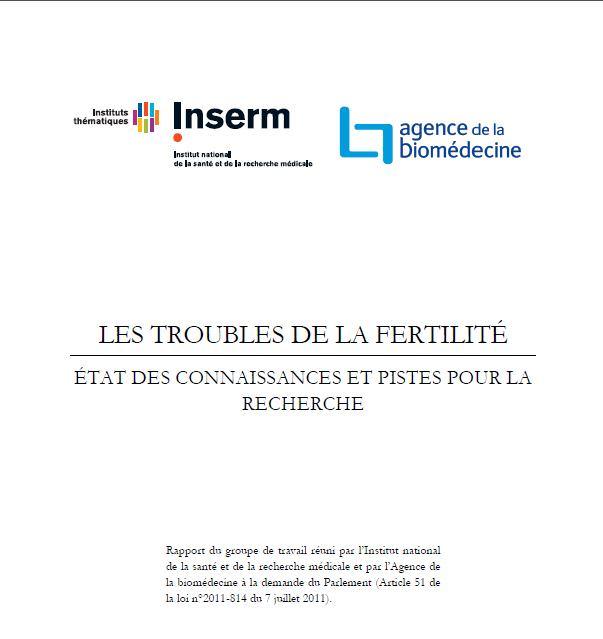 Rapport INSERM Les troubles de l'infertilité