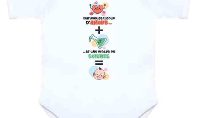 Body naissance bébé PMA «Fait avec beaucoup d'amour et une pincée de science»