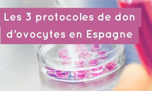 3 protocoles de don d'ovocytes en Espagne