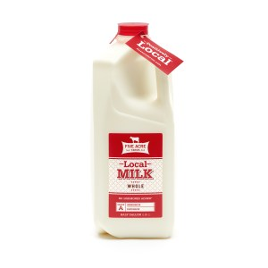 local whole milk half gallon