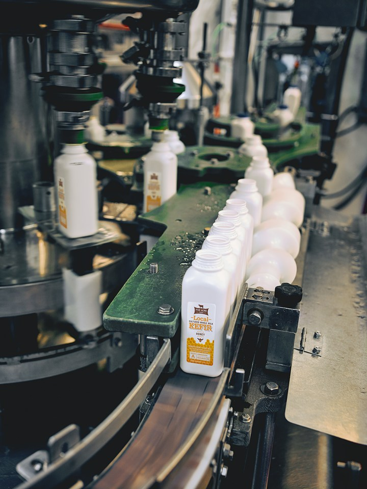 BOTTLING & PACKING Our Local Honey Kefir is bottled, immediately placed on pallets and prepared for shipping.