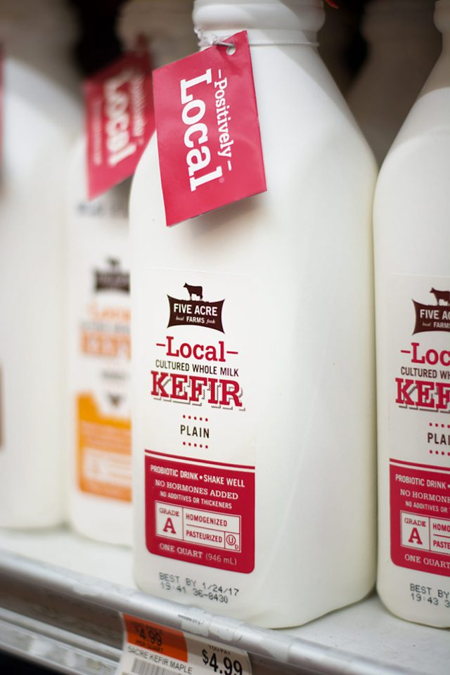 ON THE SHELF Each bottle of our kefir tells you where it was made so you know exactly where your food comes from.