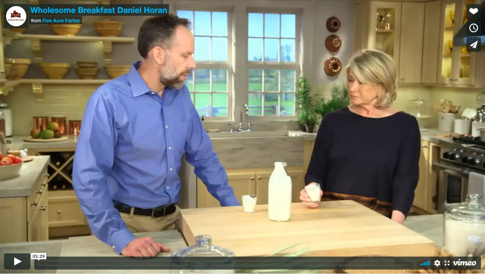 Five Acre Farms Buttermilk Review with Martha Stewart