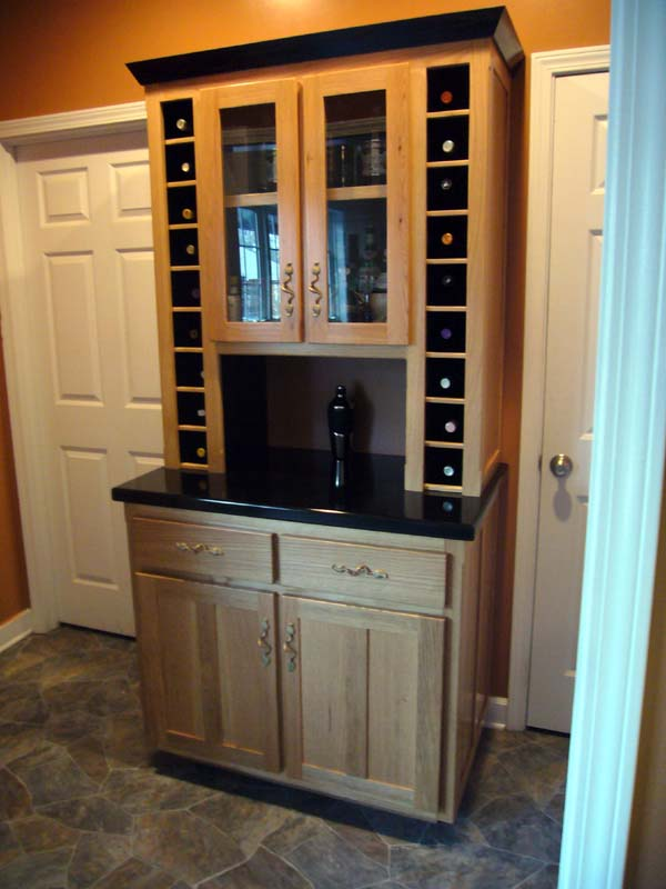 Fivebraids Custom Woodworking  LiquorWine Hutch