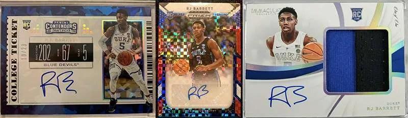 RJ Barrett rookie cards