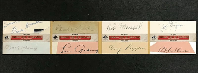 Complete 1927 New York Yankees Murderer's Row Signed Legendary Cuts Booklet