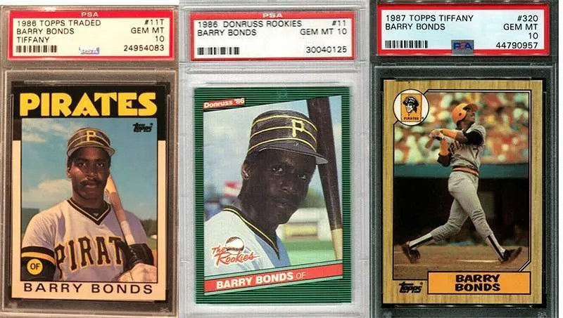 Barry Bonds rookie cards