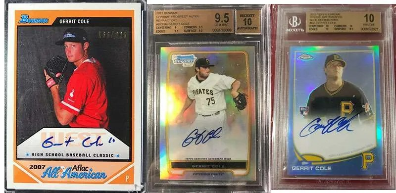 Gerrit Cole top rookie cards