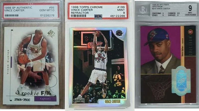 Vince Carter rookie cards
