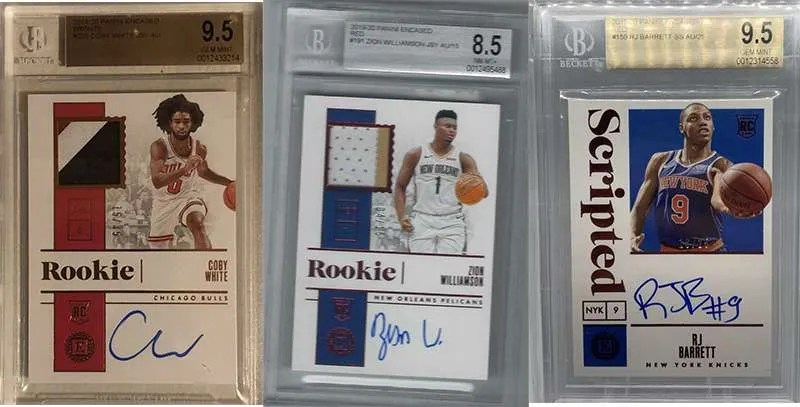2019-20 Panini Encased Graded Autograph Cards