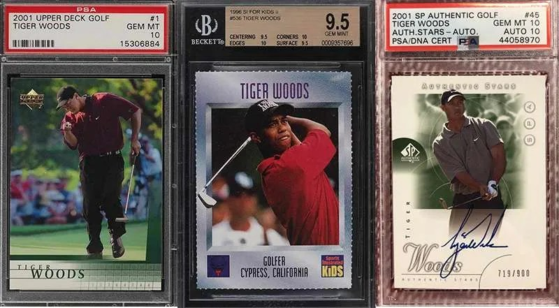 Tiger Woods Rookie Cards