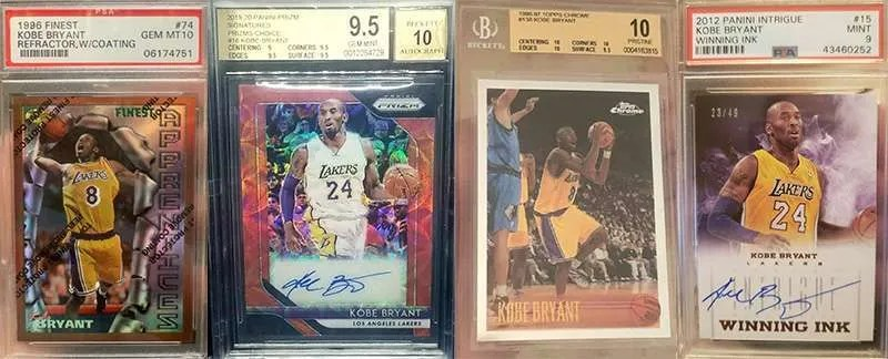 kobe bryant most watched basketball cards