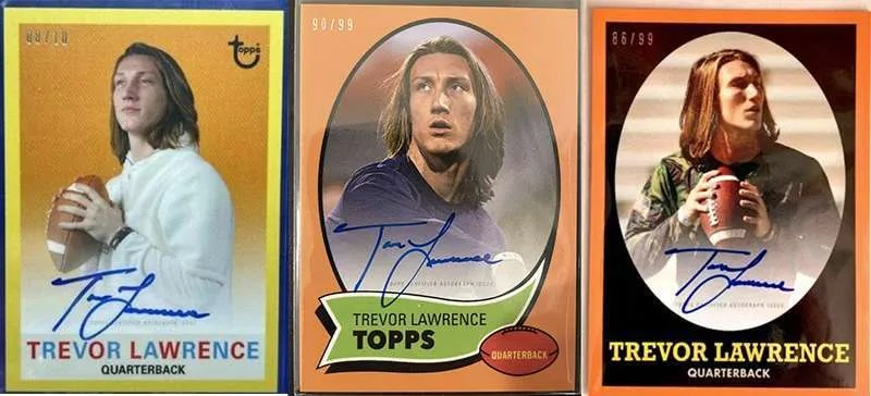 Trevor Lawrence autograph rookie cards